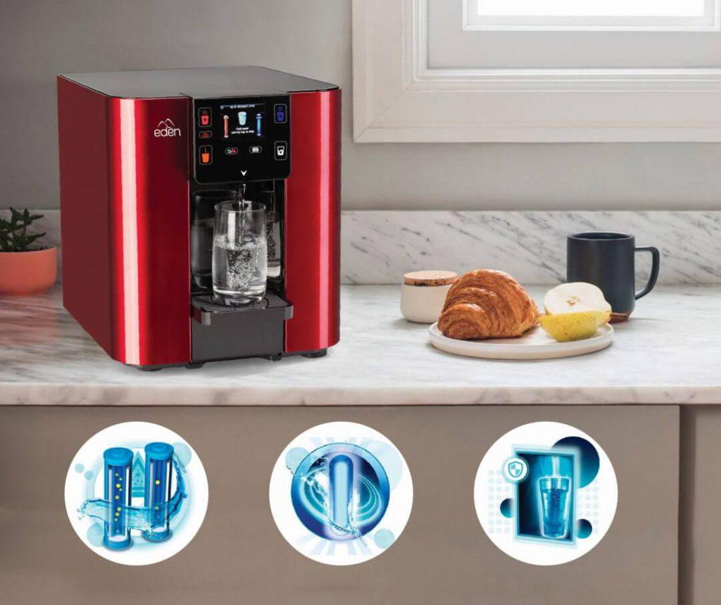 Dispensador de agua para oficina modelo Edén Pure color Rojo