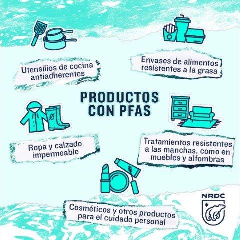 Lista de productos comunes que contienen PFAS